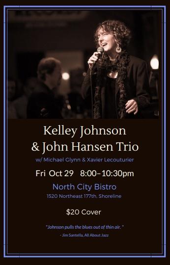 Kelley Johnson with the John Hansen Trio