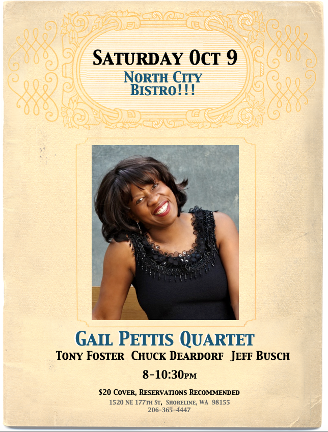 Gail Pettis Quartet – SOLD OUT SHOW
